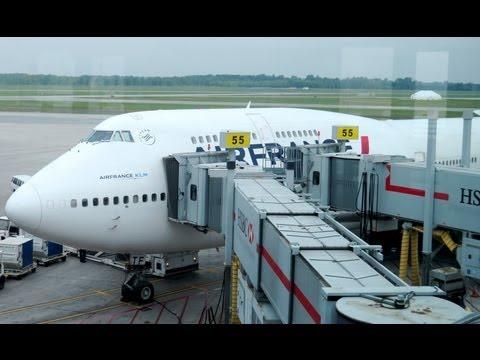 B747 Upper Deck HD - Air France - Paris CDG to Montreal