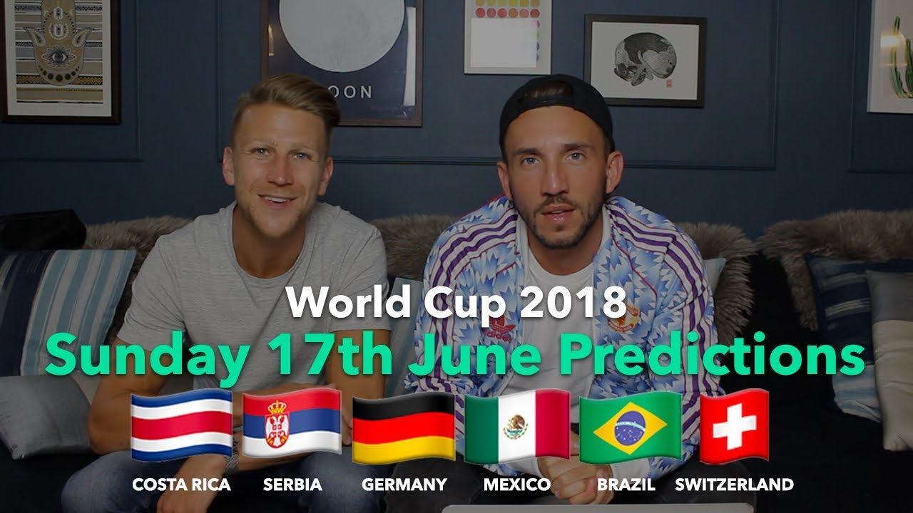 WORLD CUP PREVIEW - Sunday 17th June - YouTube