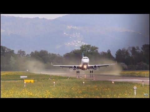 *rare pollenspray take off* E170 peoples Viennaline at Altenrhein Airport ¦  Flexi Aviation   HD