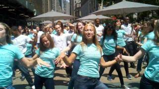 Estee Lauder flash mob, NYC Herald Square Thumbnail