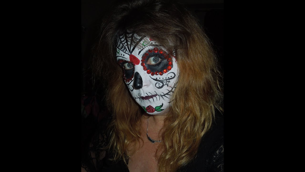 Halloween Day of the Dead Sugar Skull Face Painting ...