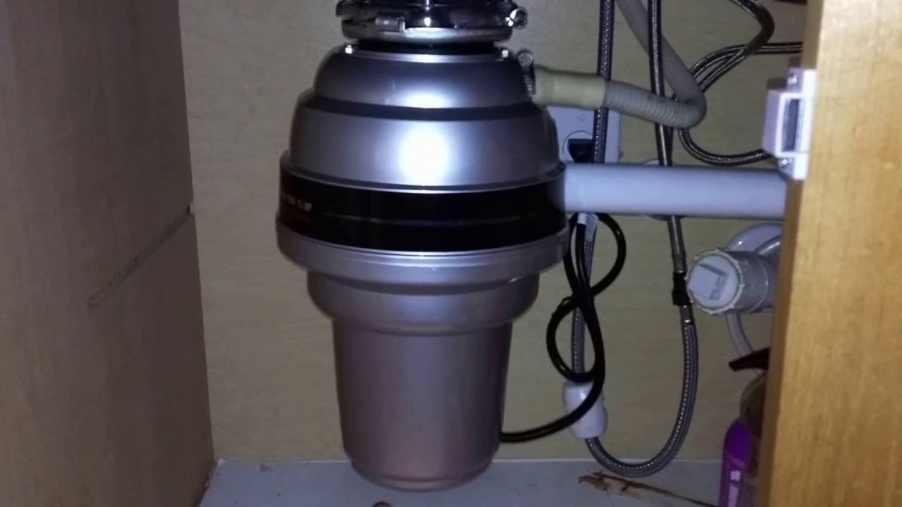 hight resolution of how to quickly install the american standard garbage 1 1 4 hp disposal from costco youtube