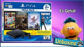 Unboxing Mega Pack Ps4 Slim Gta - DaysGone - Horizon El Mejor Blundle de Sony Para Navidad - JxR