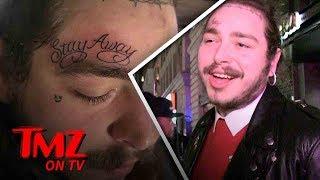Post Malone's Mom Hates His New Face Tattoo | TMZ TV