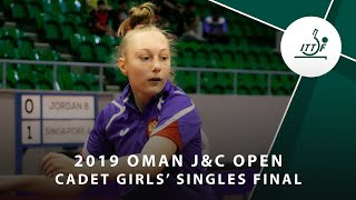 Софья Князева vs Cheng Pu-Syuan | Oman J&C Open 2019 (CGS Final)