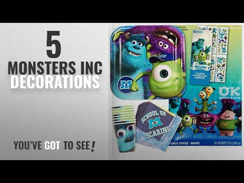 Top 10 Monsters Inc Decorations [2018]: Monsters Inc Party Supplies Ultimate Set -- Plates, Cups,