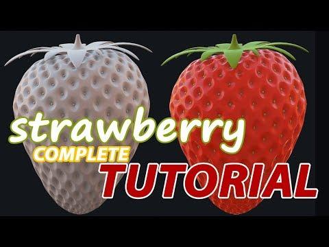 Autodesk Maya 2018 Tutorial - Strawberry Modeling and Rendering