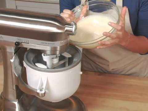 KitchenAid Stand Mixer Ice Cream Maker Attachment - YouTube on kitchenaid grater attachment, kitchenaid grinder attachment, milkshake kitchenaid attachment, kitchenaid meat tenderizer attachment, kitchenaid slicer attachment, kitchenaid lasagna attachment, kitchenaid spatula attachment, kitchenaid food processor attachment, kitchenaid pasta attachment, kitchenaid cuber attachment,