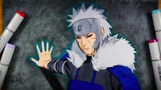 Drawing Tobirama Senju Using CIRCLE METHOD - Naruto Shippuden