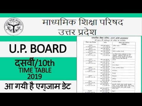 UP Board 10th (Dasvi) Time Table 2019 | UPMSP Date Sheet 2019