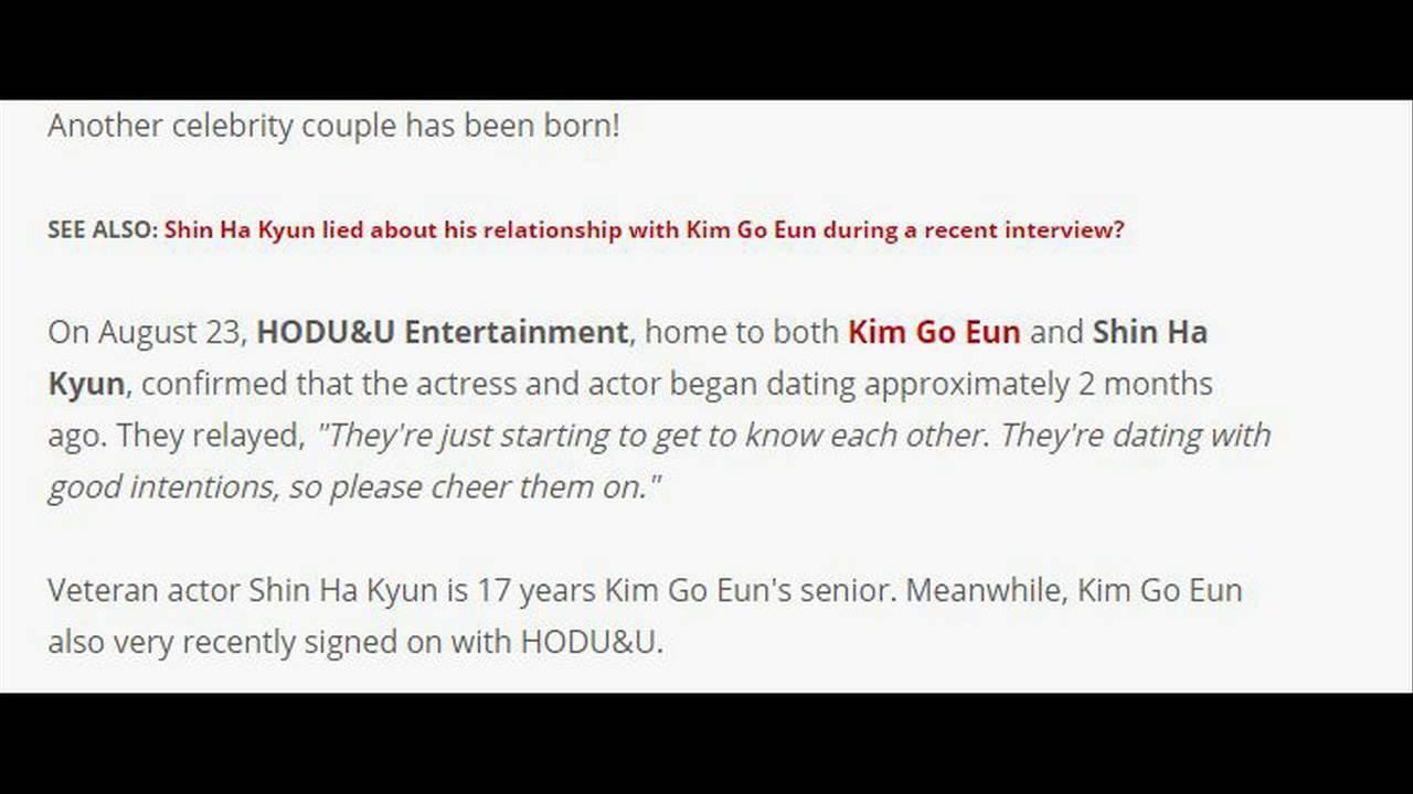 shin ha kyun kim go eun dating dating username female