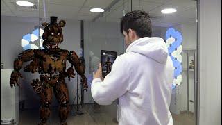 ENCONTRÉ UN ANIMATRÓNICO EN MI CASA !! INCREÍBLE - Five Nights At Freddy's AR