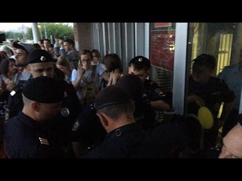 ‼️ Протест возле Никулинского суда в поддержку Голунова.