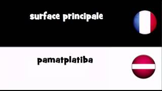 Traduction en 20 langues # surface principale