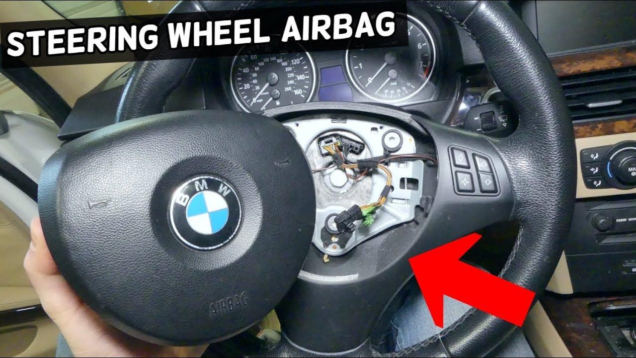 HOW TO REMOVE STEERING WHEEL AIRBAG ON BMW e90 e92 e60 e61 e82 e83 e85 e70  z4 e87