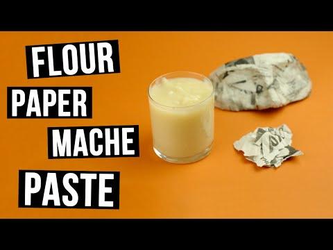 DIY Flour Paper Mache Paste