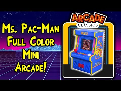 Arcade Classics Mini Ms. Pac-Man Arcade Machine!