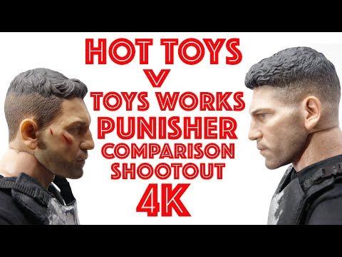 HOT TOYS V TOYS WORKS PUNISHER COMPARISON 4K!!