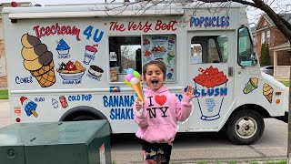 Sally buy ice Cream from a real ice Cream truck!! family fun vlog 2