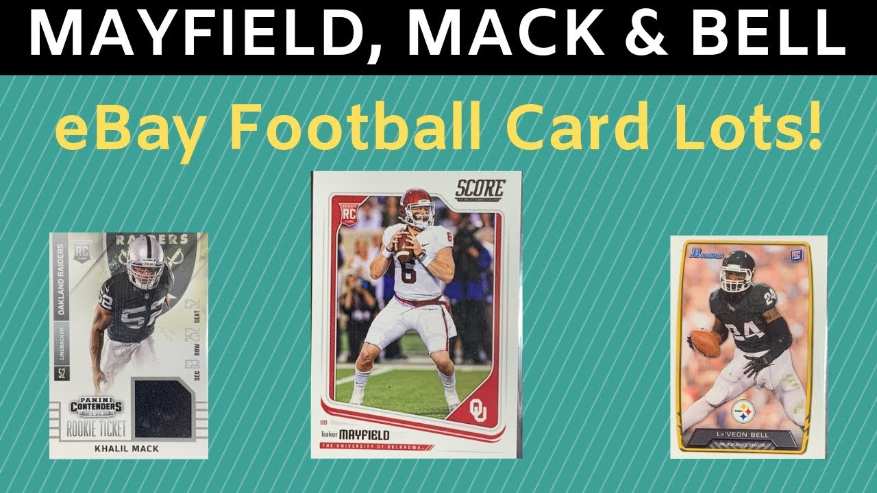 reputable site 21950 2582d Baker Mayfield, Kahlil Mack & Le'veon Bell Football Card Lots!!