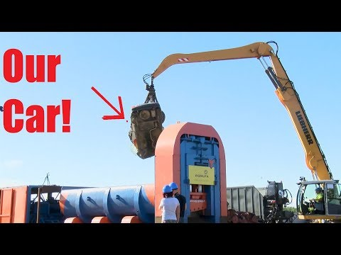 We Crushed Our Car with 1000 TON Hydraulic Scrap Cutter