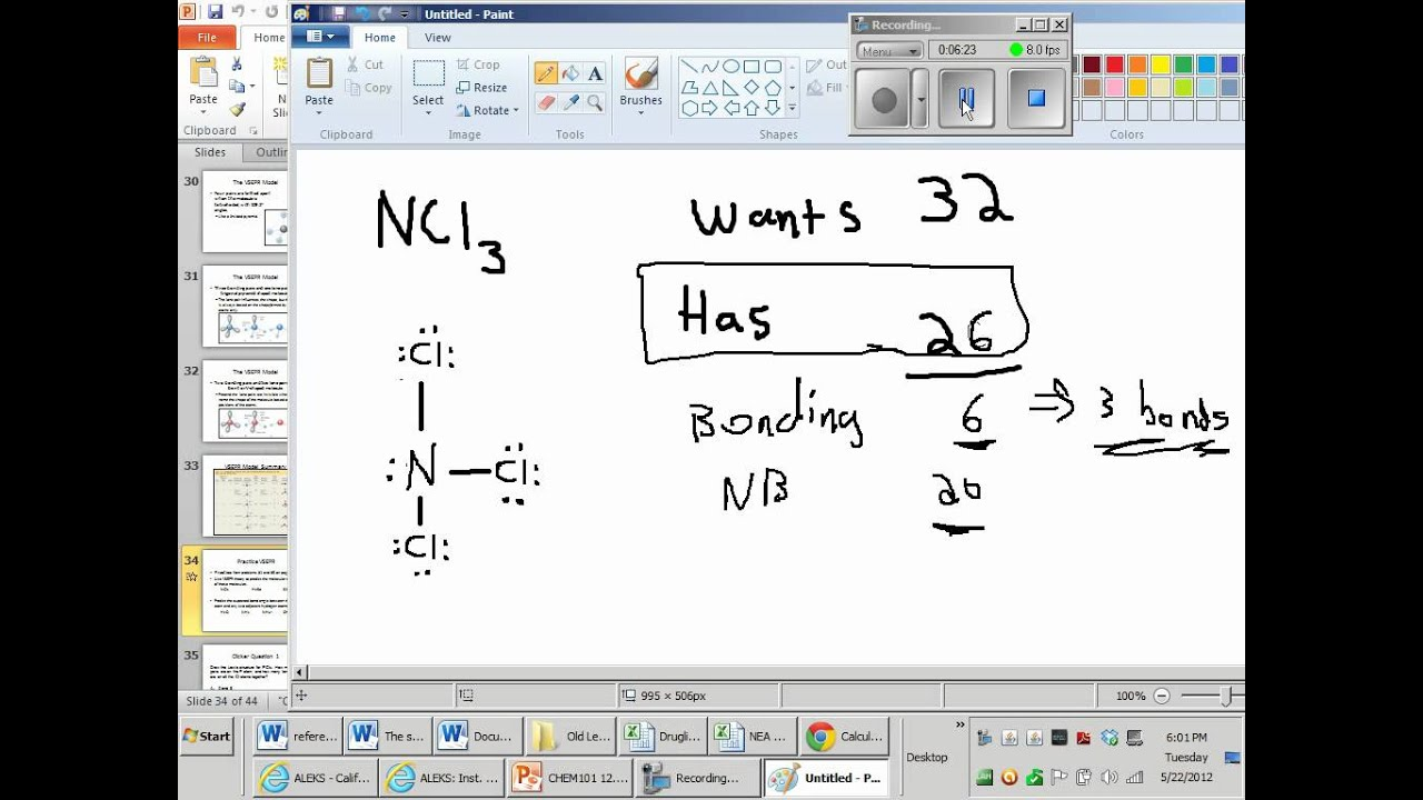 Ncl3 Lewis Structure And Molecular Geometry Geometry