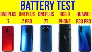 ROG Phone 2 vs OnePlus 7T, P30 Pro, OnePlus 7 Pro | Battery Drain | Charging | Heating Issue