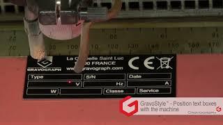 グラボグラフのCO2レーザー彫刻機と彫刻ソフトレーザースタイル(LaserS...