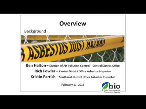 Compliance with Ohio EPA Asbestos Regulations for Building Demolition and Renovation