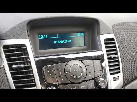 2013 Chevy Cruze How To Set Date & Time