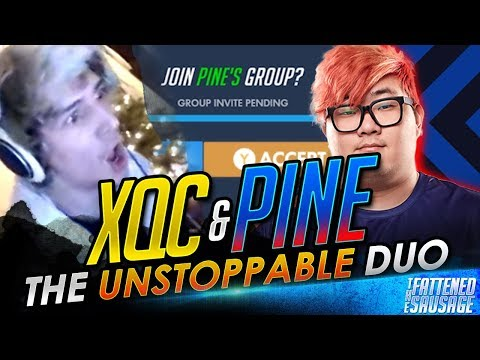 PINE CARRIES XQC! XQC & PINE QUEUE TOGETHER!