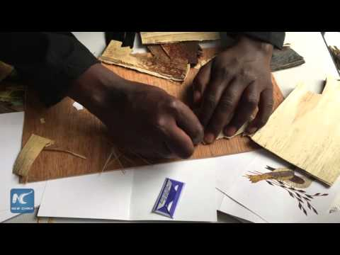 African traditional art: Banana handcrafts