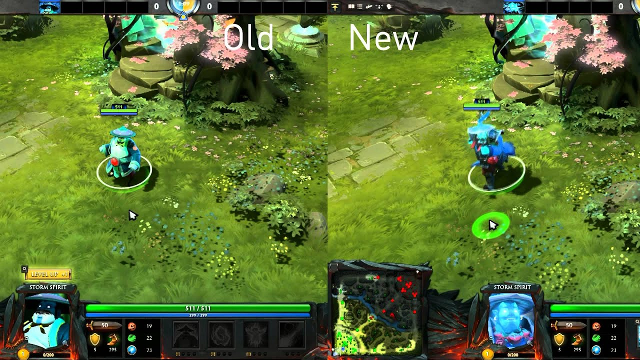 Dota 2 New Storm Spirit And Static Remnants VS The Old Ones