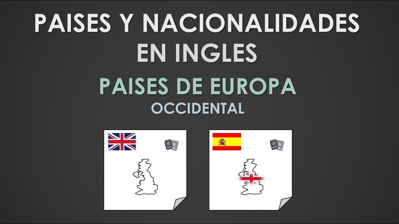 Paises Y Nacionalidades En Ingles Paises De Sur America Youtube