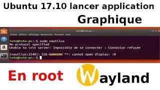 Ubuntu 17.10 lancer application graphique en root SOLUTIONS
