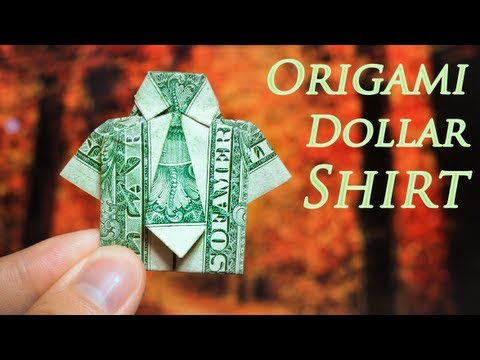 How To Make An Easy Origami Dollar Shirt Tie Youtube