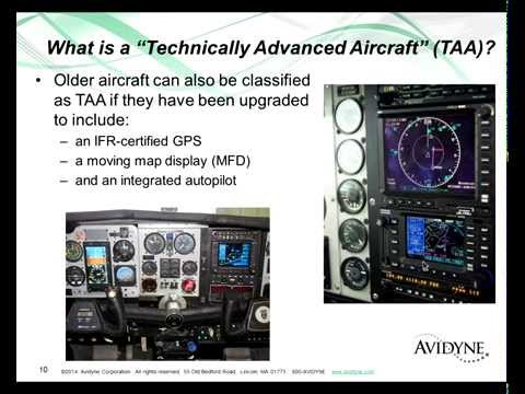 Safety Concerns in Technically Advanced Aircraft - Presented by Avidyne