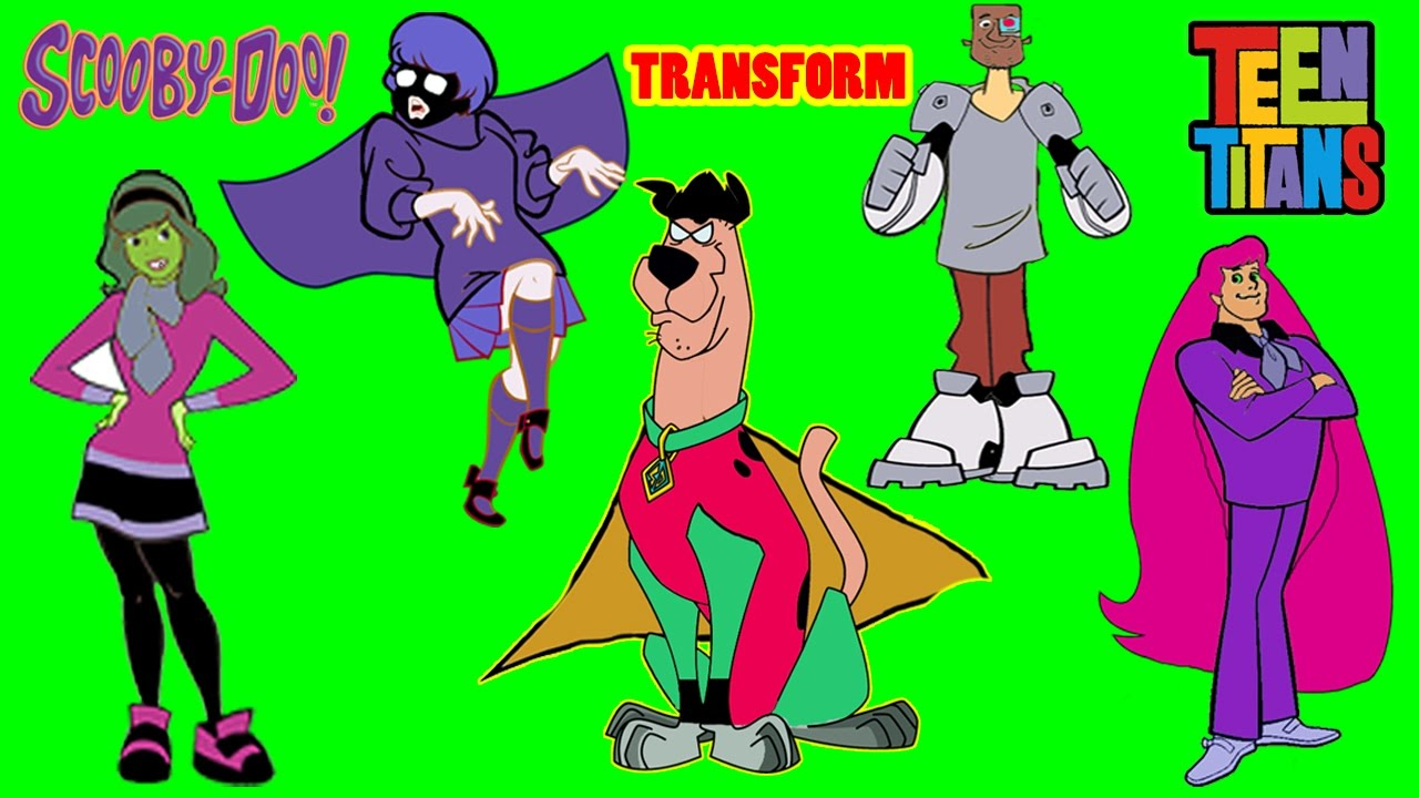 Scooby Doo Transforms To Teen Titans Go! COLORING VIDEO-Kiddie ...