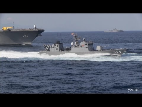 "Missile boats.High speed Pass.Fleet Review ""Naval Review"""