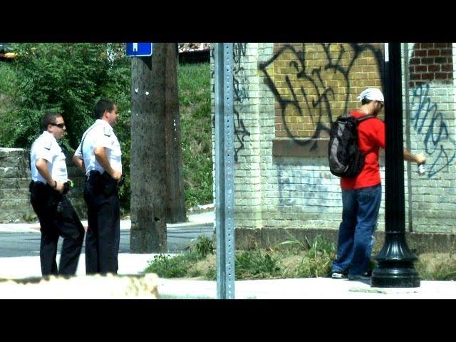 Epic Spray Paint Prank - On Cops!