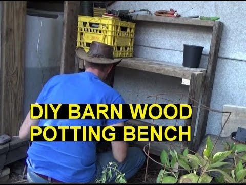 Awesome Solar Power & Building Potting Bench