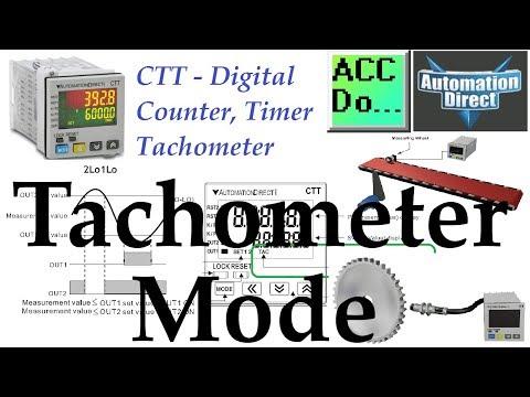 CTT Counter Timer Tachometer – Tachometer Mode