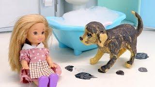 Мультик Барби Маше Купили Дорогого Щенка Куклы Игрушки Для детей Видео для девочек IkuklaTV