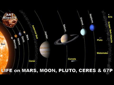 LIFE on MARS, MOON, PLUTO, CERES & COMET 67P - Compilation. ArtAlienTV - 720p