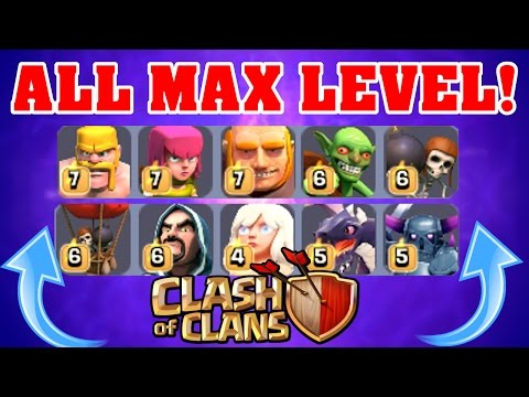 Clash Of Clans | GEMMING TO MAX LEVEL! | ALL MAX ELIXIR TROOPS!!