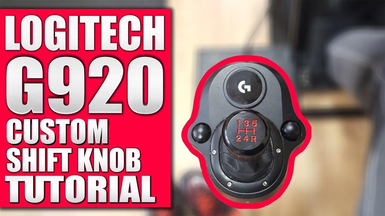 Logitech G920 G29 Custom Shift Knob Tutorial Youtube