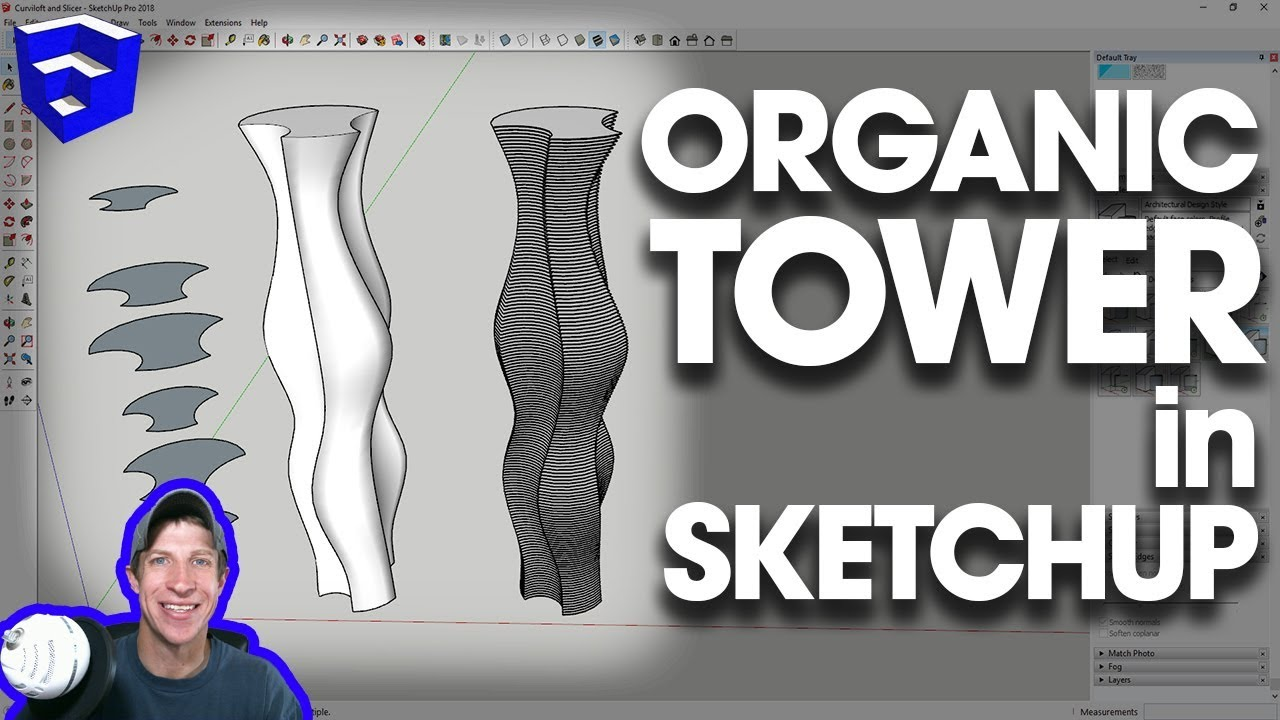 CREATING SLICED ORGANIC SHAPES in SketchUp with Curviloft and Slicer