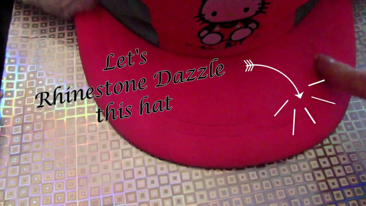 582af8ce0062 Tutorial on how to bling your baseball cap with rhinestones - YouTube