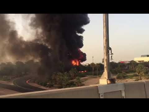 Fire near Khaitan in Kuwait (27-05-2018)