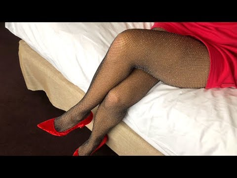 Lurex Fishnets Pantyhose And Red Heels 👠